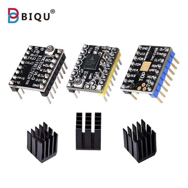BIQU BIGTREETECH TMC2208 TMC2100 TMC2130 V1.1 SPI MKS шаговый двигатель StepStick Mute драйвер для 3D-принтера плата управления SKR V1.3