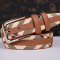 Epacket Free Shipping New Arrival Fashion Famous Brand High Quality pu Leather Men's Belt  for Sale B55