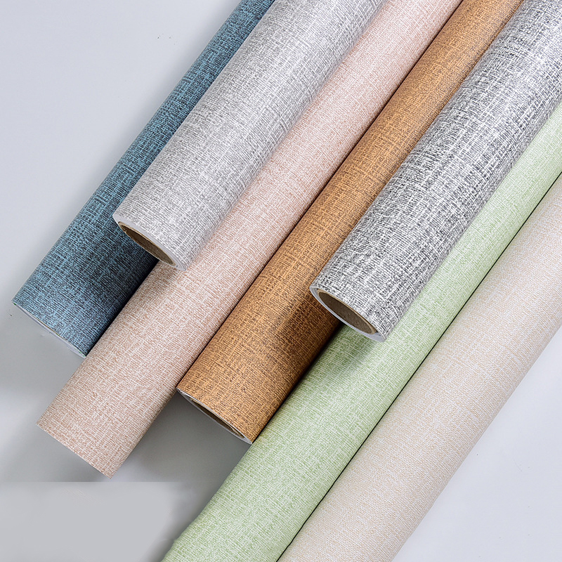 50M Linen Grasscloth Wallpaper Roll Bedroom Textures Wall Paper Dining Room Hotel Striped Wallpapers For Living Room Backsplash