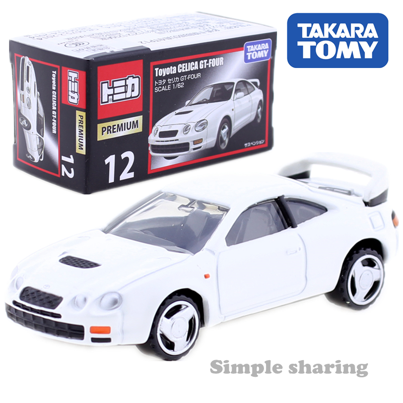 TAKARA TOMY TOMICA PREMIUM 12 Toyota CELICA GT FOUR <font><b>Car</b></font> toy 1:62 miniature <font><b>Diecast</b></font> automobile <font><b>Model</b></font> kit funny magic baby toys image