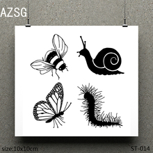 AZSG Friends of nature Clear Stamps/seal for DIY Scrapbooking/Card Making/Photo Album Decoration Supplies