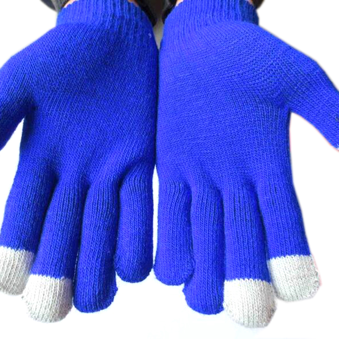 Winter Warm Colorful Touch Screen Gloves For Women Men Plus Thicken Knitted Five Finger Gloves Knit Solid Color Guantes Mittens