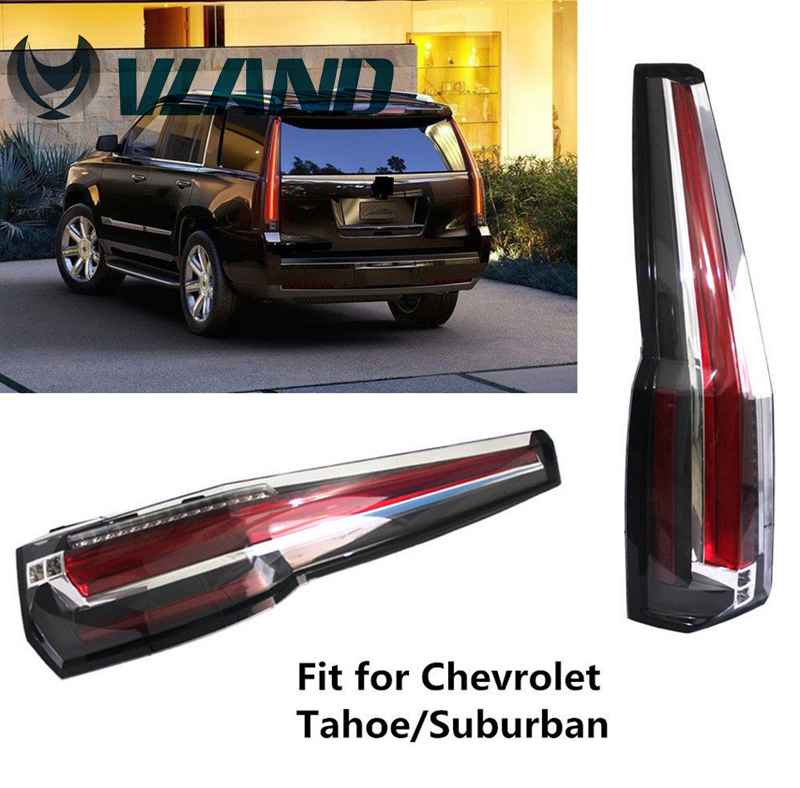 Free Shipping Vland Factory Wholesale LED Taillamps for Chevrolet Suburban/Tahoe LED Tail Lamp LED DRL 2015-2016 Plug and Play chevrolet tahoe у дилера