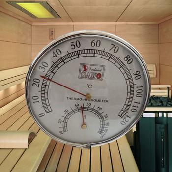 Sauna termometr opakowanie ze stali nierdzewnej Sauna parowa termometry higrometr wanna i Sauna kryty odkryty używany tanie i dobre opinie Barry Century Hydraulika DIGITAL sawo