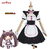 UWOWO Chocola NEKOPARA Cosplay Chocola Vanilla Maid Dress Costume Cat Neko Girl NEKOPARA Cosplay Women Costume Game