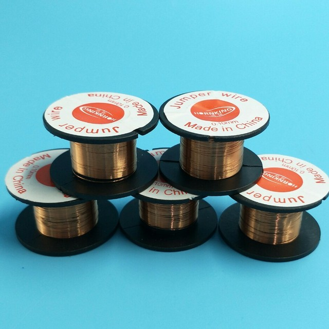 PCB Link Jumper Wire Copper Soldering Wire 0.1mm Maintenance Jump ...