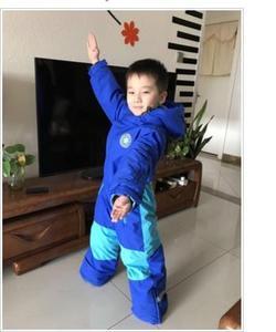 Image 4 - Çocuk sıcak vardır, su geçirmez ve nefes, bir set katı renk tulumlar.