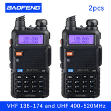 (2 PCS)Baofeng UV5R Ham Two Way Radio walkie talkie Dual-Band Transceiver (Black)