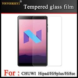Szkło hartowane membrana dla CHUWI Hipad 10.1 cal Tablet ekran ochrony hartowane dla Chuwi HI9plus/hi8se ekran folia ochronna w Ochraniacze ekranu do tabletów od Komputer i biuro na