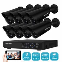 SUNCHAN Security Camera System 8ch AHD CCTV Surveillance Kit 8 Pcs 1080P CCTV Camera 2 0MP
