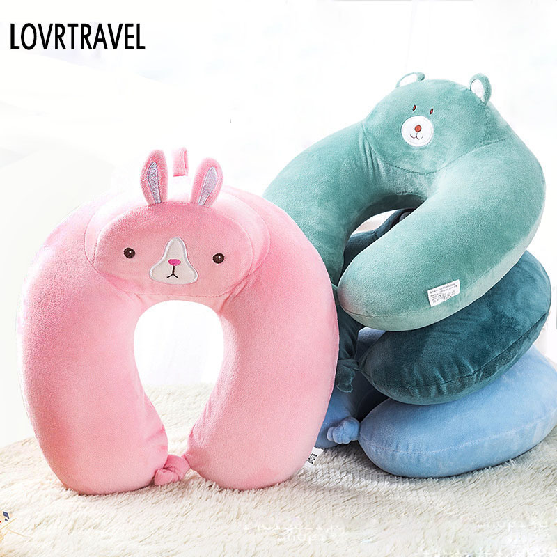 LOVRTRAVEL 1PC New U Shaped Travel Memory Foam Pillow Neck Support Headrest Type Office Home Travel Use Portable Siesta Pillow
