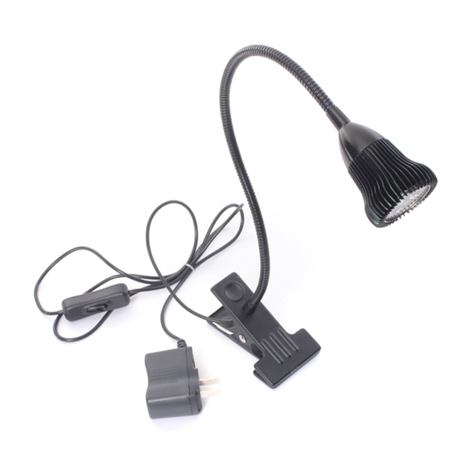 Silver/Black Spot Flexible LED Book Table Desk Reading Lamp Energy Saving Clip On Night Light Warm White/ Pure White 220V