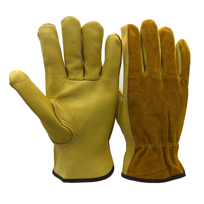 купить RJS SAFETY New Men's Work Gloves Sheepskin Driver Security Protection Wear Safety Workers Welding Moto Gloves For Men NG4032 недорого