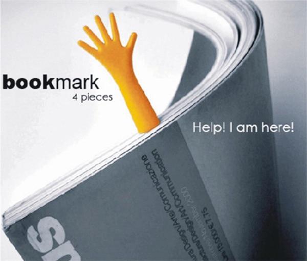 600 Sets (1Set/4pcs) The BOOK MARK Help Me Novelty Bookmark Funny Bookworm Gift Stationery