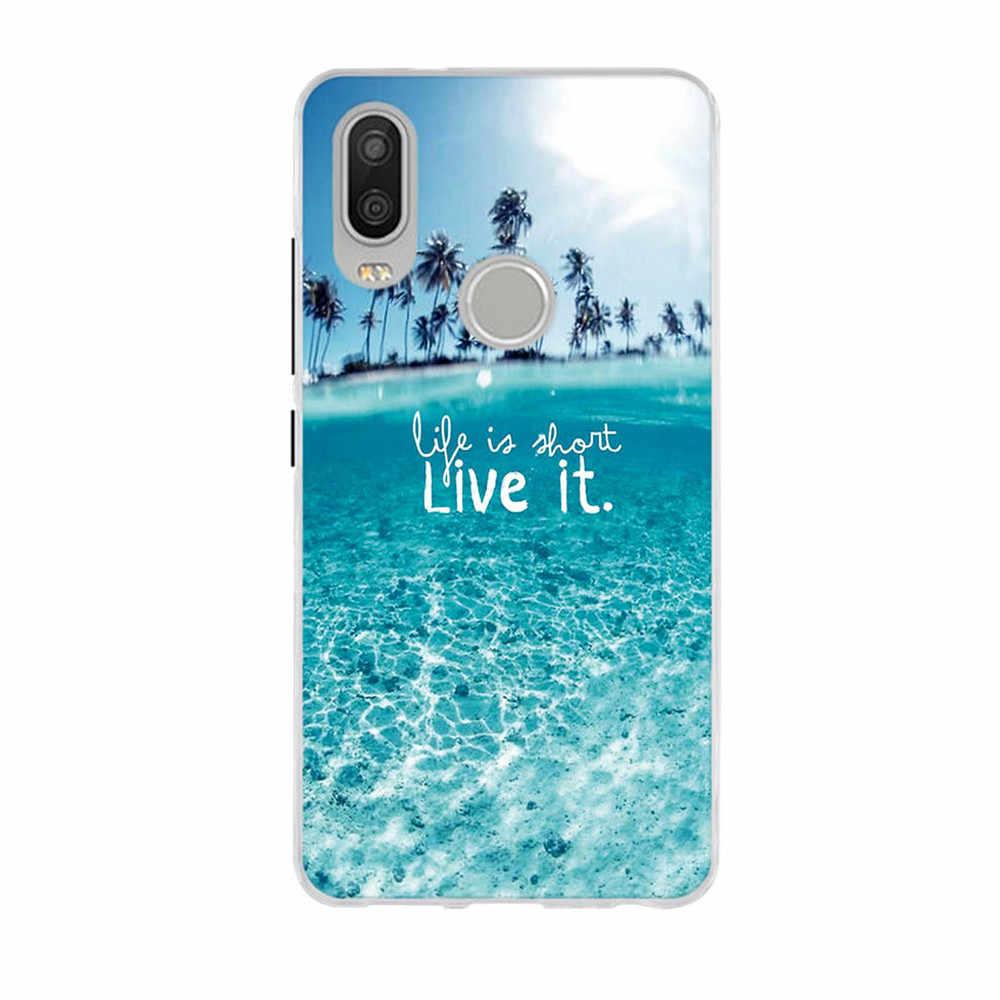 Penutup Belakang untuk BQ Aquaris X2 5.65 Inch Case Lembut Tpu Ponsel Case untuk BQ Aquaris X2 Pro Cover Kerang silikon Fundas Coque Covers