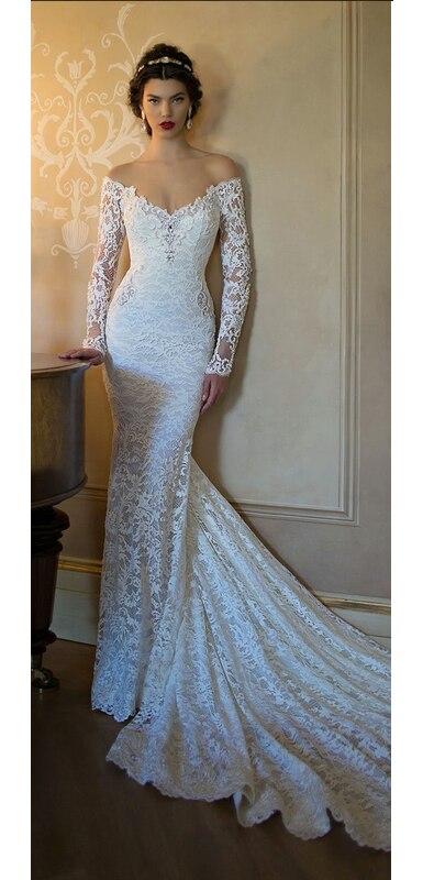 2015 wedding dress Strapless long sleeve wedding Mermaid fantasy no ...