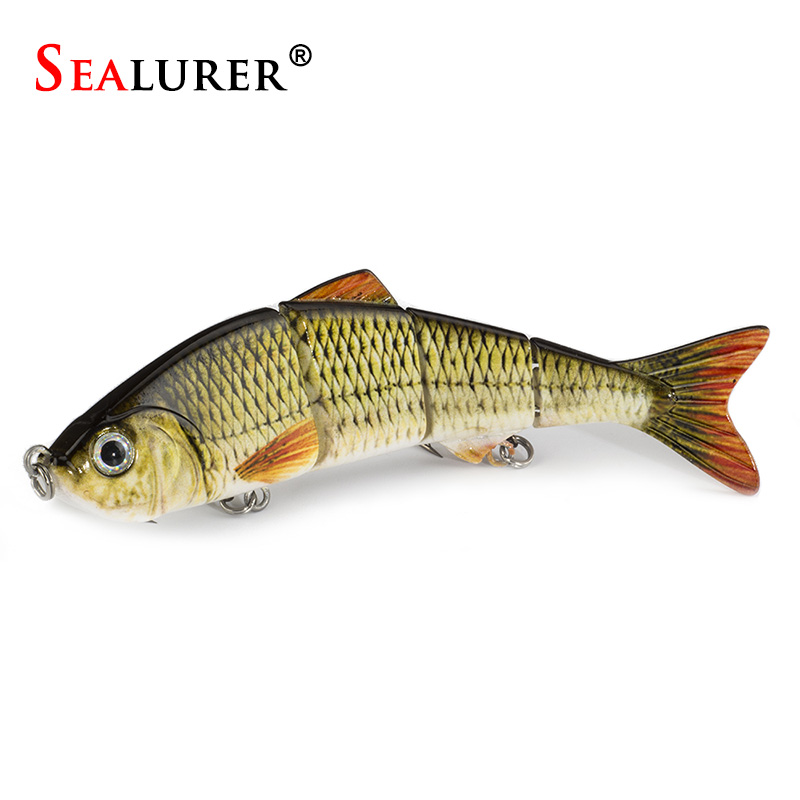 SEALURER 1pcs Fishing Lures Swimbait Crankbait Hard Bait Slow 5Colors Fishing Wobbler Isca Artificial Lures Fishing Tackle босоножки lola cruz босоножки