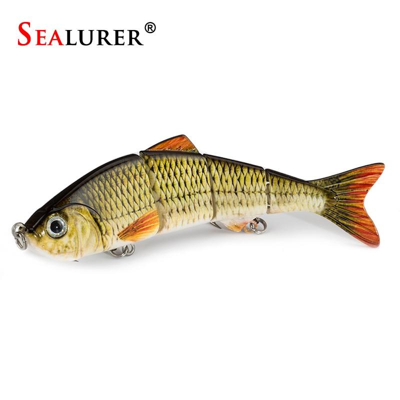 Sealurer 1 unids lento 5 colores que pescan señuelos de pesca swimbait crankbait