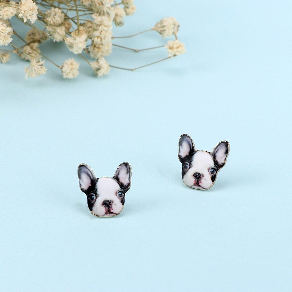 2019 Neue Ankunft Ohrringe Schöne Hippie Chic Vintage Französisch Bulldog Stud Ohrringe Für Mädchen Party Geschenk