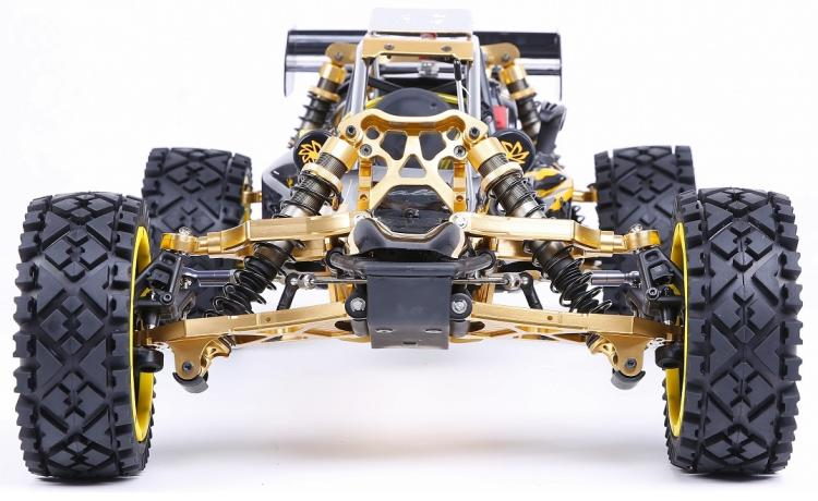 RUFAN Rovan Baja 5B 360 2WD 2T 36cc Gasoline Engine CNC Alloy Front Rear Arm Suspension Symmetrical Steering RC Truck