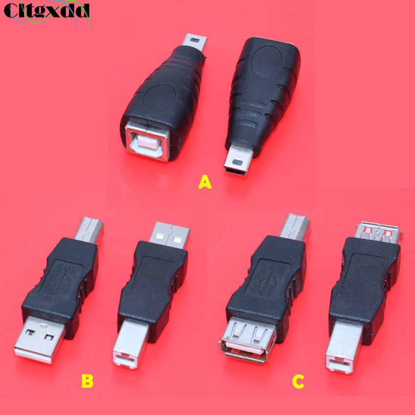 مهايئ الطابعة من النوع Cltgxdd 1 قطعة USB 2.0 Mini USB 5pin to B مهايئ ذكر إلى أنثى USB 2.0 دقيقة مهايئ موصل ماسح الطابعة USB