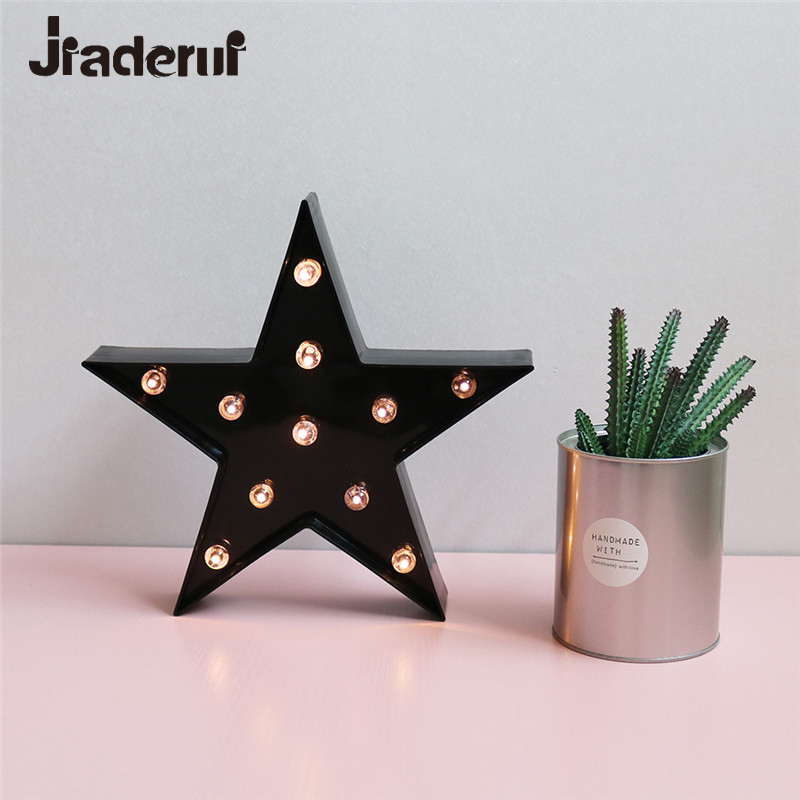 Jiaderui Creative LED Star Baby Bedroom 3D Night Lights Home Decorations Table Lamp for Children Kids Birthday Holiday Gift Toys 3d pop up the god of wealth creative gifts for birthday post card greeting cards holiday 1411r