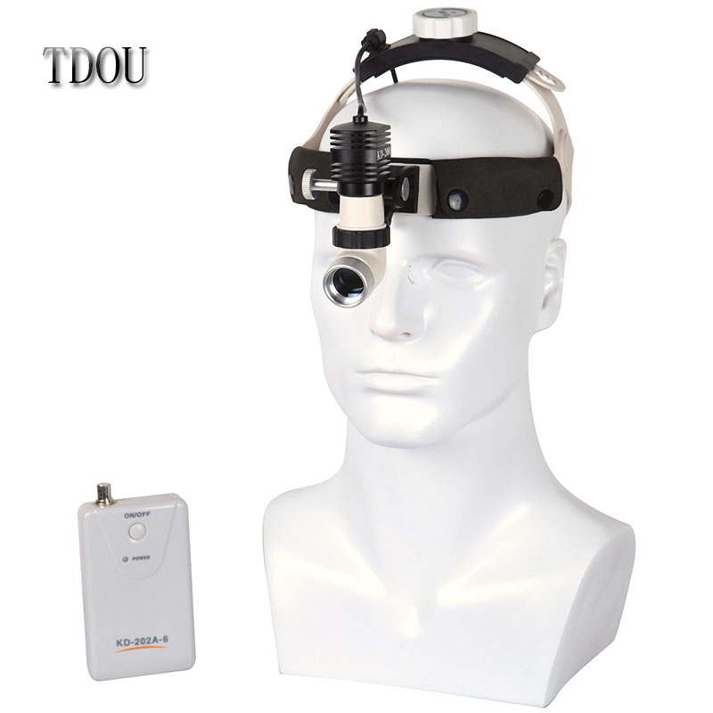 TDOUBEAUTY High power,High brightness,Aluminum cooling structure,5W,KD-202A-6 Dental Surgery Surgical Headlight Free Shipping