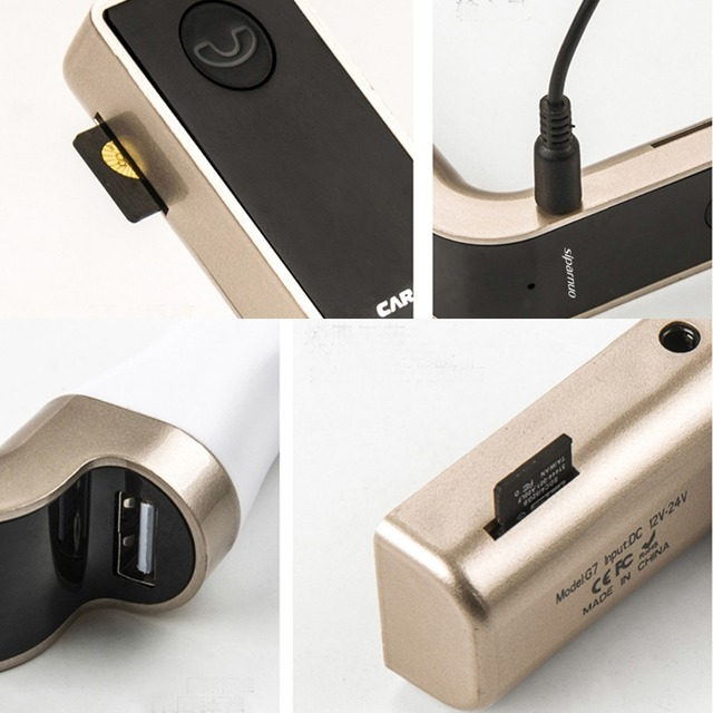Siparnuo-transmetteur dautoradio | Bluetooth G7, Trasmettitore, Kit de voiture, Bluetooth par voiture FM, avec fente USB ou TF
