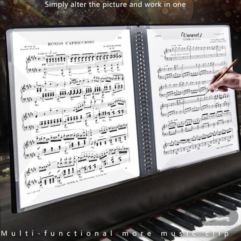 Multi-layer Music Folder File Plastic Paper Data Bag Filing Products Document  Bag A3 Plastic Music Folder 15 Pages