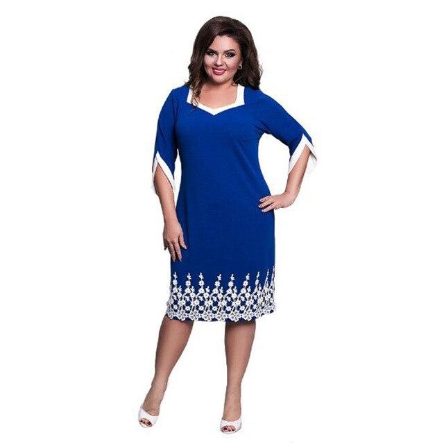 Fashion Lace Hook Flower Plus Size Dresses for Women Brand Designer ...