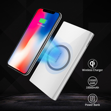 Power Bank 10000mah Nillkin 2 in 1 Qi Wireless Charger Universal Portable Power bank for iPhone X/8 For Samsung S9/S8 For xiaomi