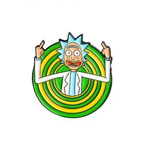 Мисс Зое, классические Мультяшные иконы, эмалированная булавка Genius mad scientist, значок на пуговицах, брошь для любителей аниме, джинсовая рубашка, отворот, булавки