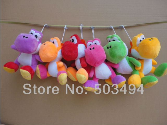 "Super Mario Plush Yoshi Plush Toy Anime 7.8""  Runing Yoshi Figure Doll 6 colors EMS Free shipping 60/Lot"