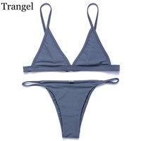 Trangel Bikini Brand 2017 Women Swimsuit Swimwear Micro Bikini Halter Strap Swim Wear Brazilian Bikinis Hot