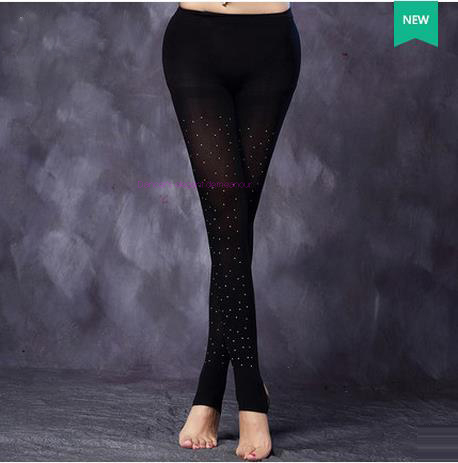NEW! Mesh Belly Dance Costumes Senior Mesh Stones Belly Dance Leggings For Women Belly Dance Exercise Leggings