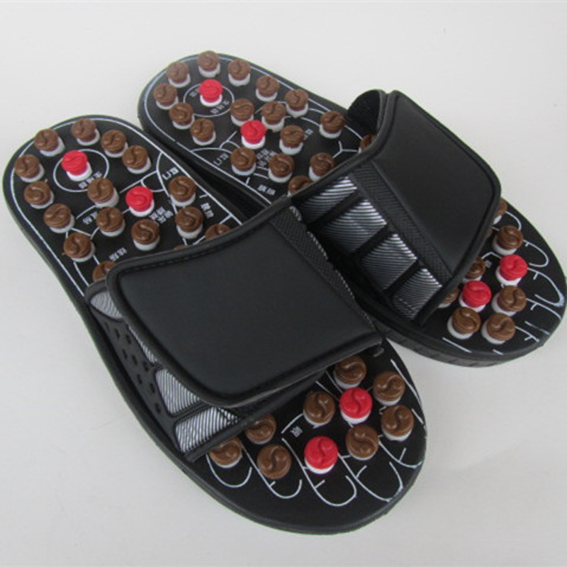 Foot Reflex Massage Slippers Acupuncture Foot Massager Shoe Health Care red,black color electric antistress therapy rollers shiatsu kneading foot legs arms massager vibrator foot massage machine foot care device hot