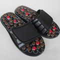 Foot Reflex Massage Slippers Acupuncture Foot Massager Shoe Health Care red,black color
