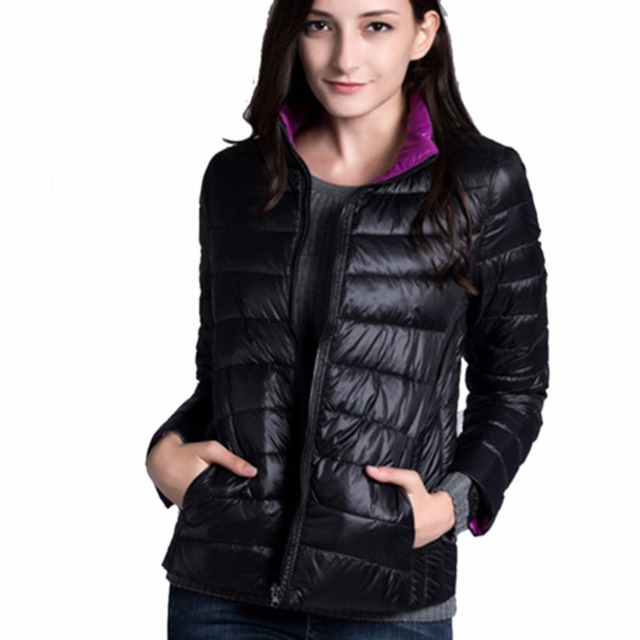iSHINE Women Double Side Coat Winter Parkas Slim Jackets Brand Design Female Warm Clothing 1