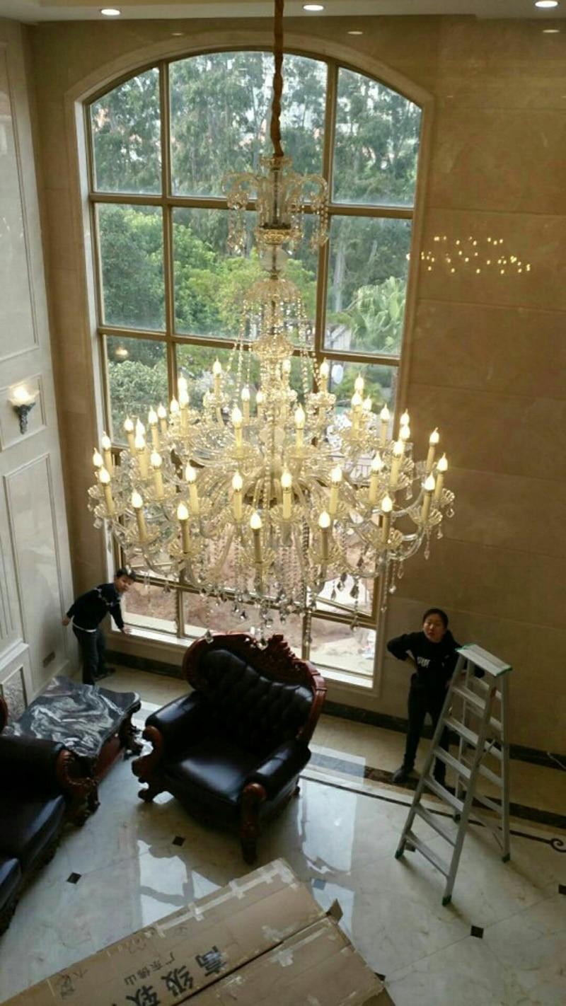 Large 30-light Church Chandelier led Candelabro crystal pendant hotel - Indoor Lighting - Photo 6