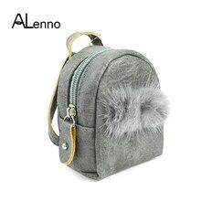 Double Pompom Fox Fur Fluffy Keychains For Women Cute Wallet