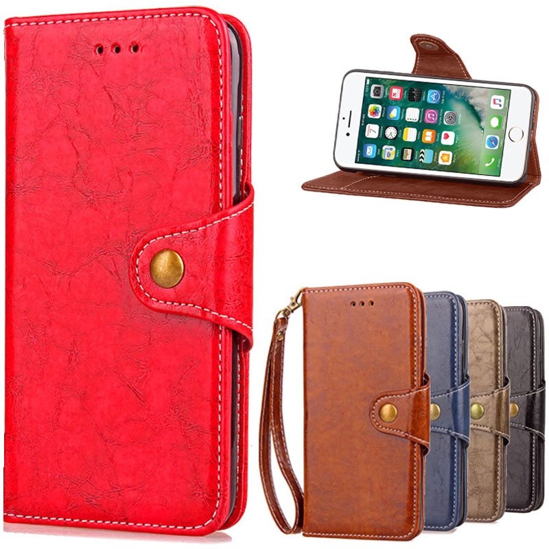 Luxury Leather Case For iPhone 6 6S / 6 6S Plus Luxury Coque Cover for iPhone 6 S Plus Phone Case Bag With Card Slot 6S 6+ Cases
