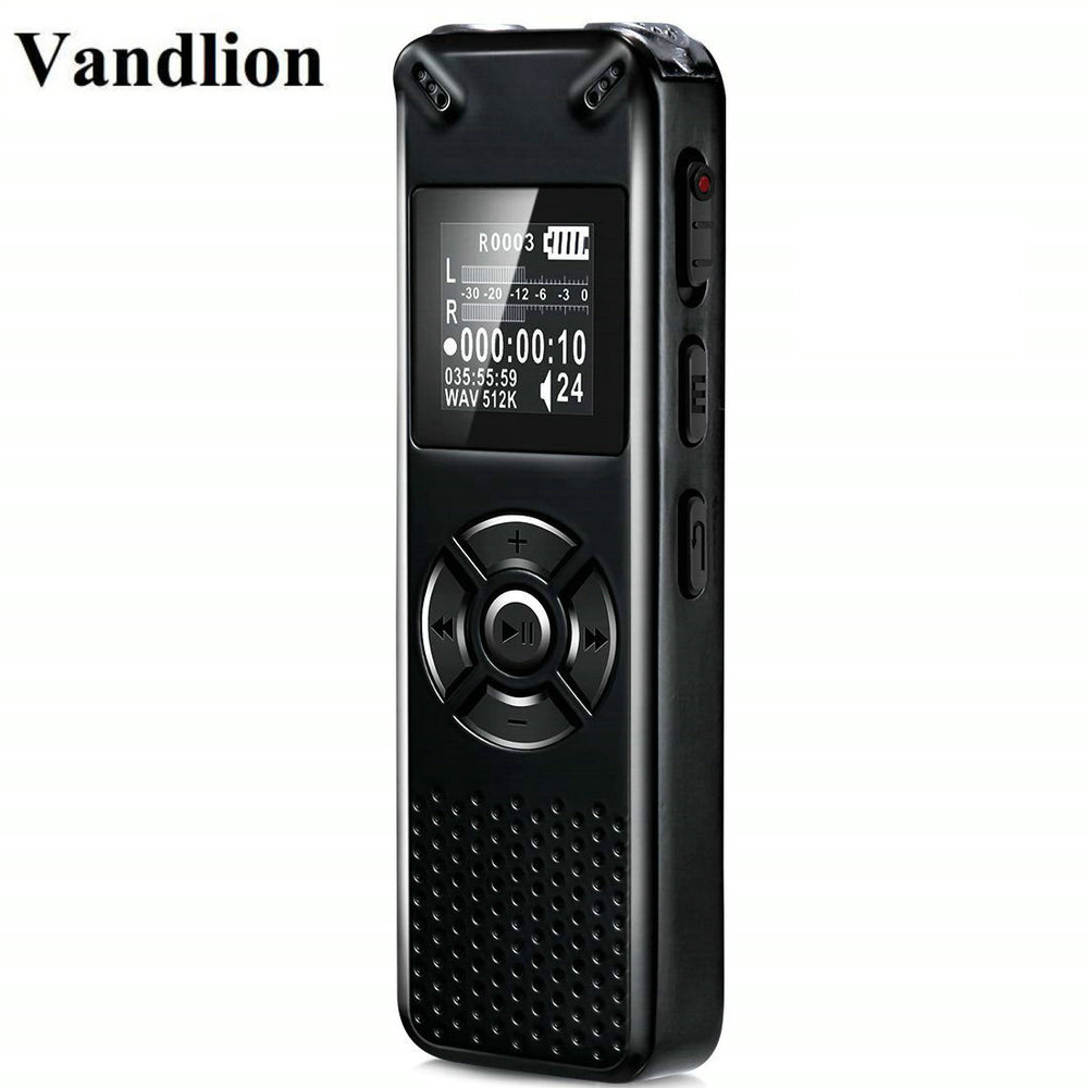 Vandlion Professional Smart Digital Voice Recorder Portable Hidden HD Sound Audio Telephone Recording Dictaphone MP3