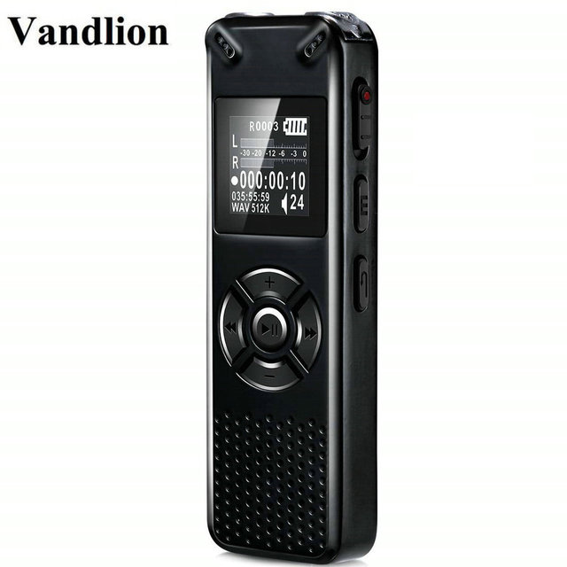 Vandlion Professional Smart Digital Voice Recorder Portable Hidden HD Sound Audio Telephone Recording Dictaphone MP3 Recorder