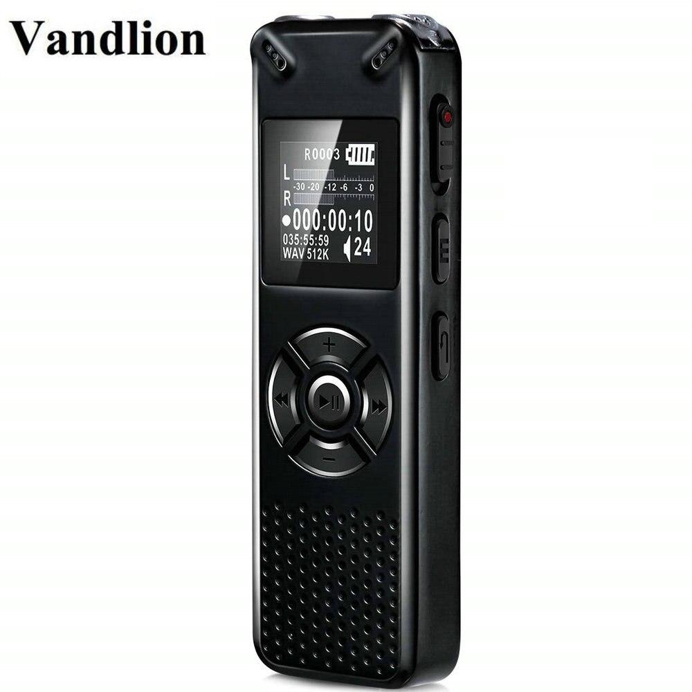 Vandlion Professionelle Smart Digital Voice Recorder Tragbare Versteckte HD Sound Audio Telefon Aufnahme Diktiergerät MP3 Recorder