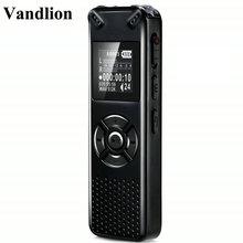 Vandlion gravador de voz digital, profissional, digital, portátil, escondido, hd, áudio, gravador de mp3