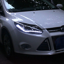 Auto Styling LED Kopf Lampe für Ford Focus 3 scheinwerfer 2012 2014 Europa led führungs licht drl H7 hid bi Xenon Doppel Objektiv abblendlicht