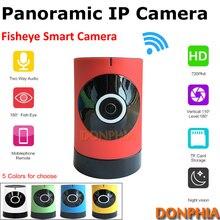 Высокое качество 720 P WI-FI Панорамный Ip-камера крытый Подключи и играть Fisheye объектив телефон монитор P2P Onvif 1.0MP CCTV безопасности камера