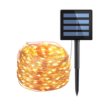 8 mode Christmas Solar LED String Light Waterproof 10M 33ft 100 Copper Silver Wire Fairy Lamp For Outdoor Garden