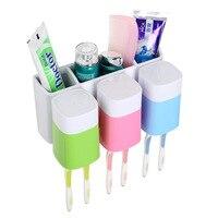Bathroom Toothbrush Storage Racket Suction Toothpaste Storage Shelf Hooks Multifunctional Makeup Accessories Storage Box