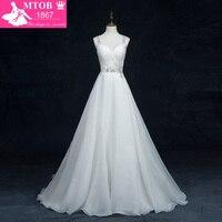 Vestido De Noiva Foto Real Beading Sexy Vintage Wedding Dress A Line Bridal Dresses Robe De